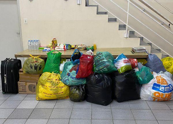Ajuda às vítimas das chuvas